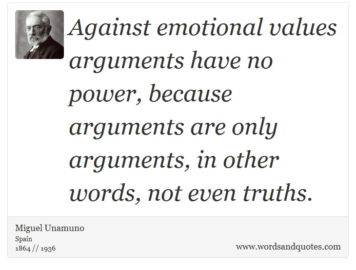 On Emotion: Against Emotional Values Arguments Have No Powe