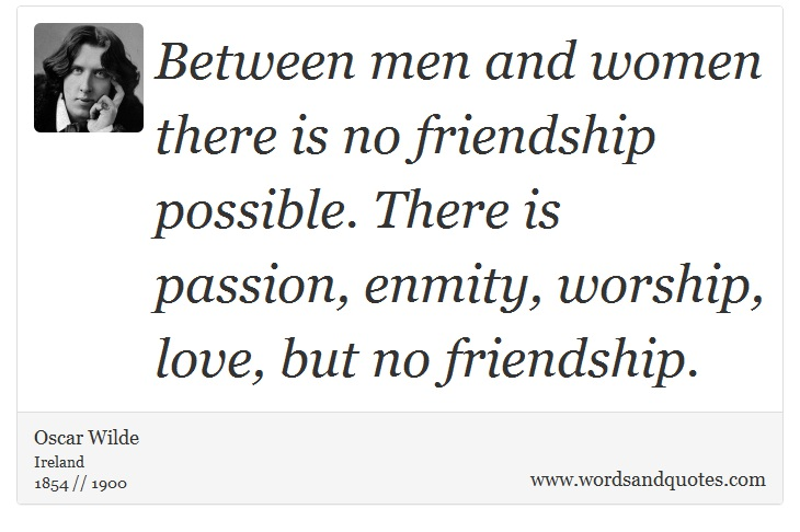 is there friendship between man and woman