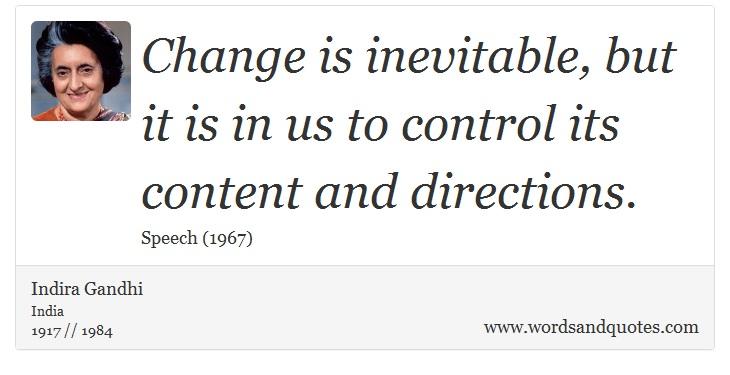 Change is inevitable essay