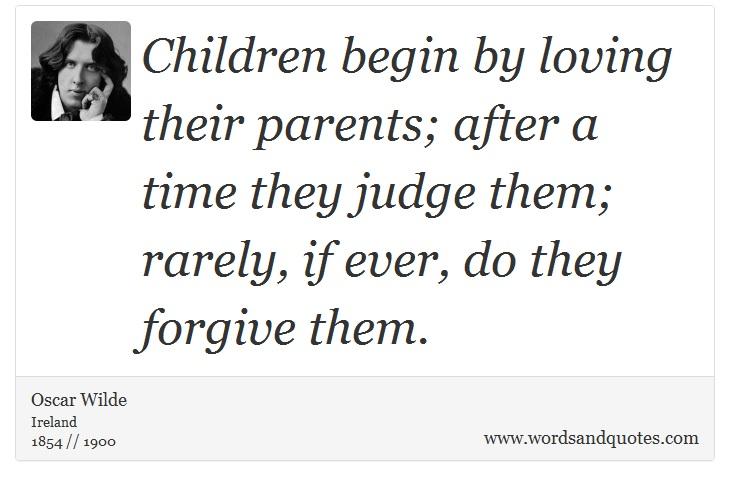 children begin by loving their parents essay
