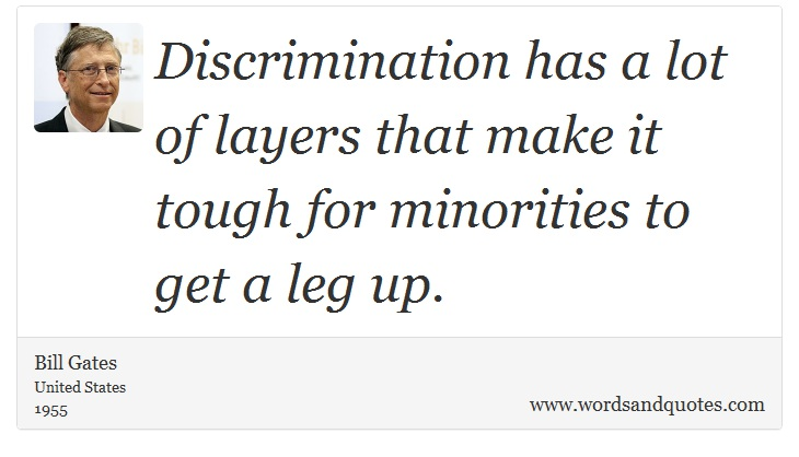 Discrimination Quotes Glamorous On Society Discrimination Has A Lot Of Layers That Make It.