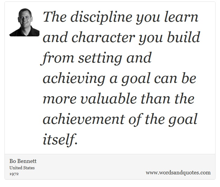 the discipline of building character Whatever the character of a study, if it is disciplined the investigator has  when  binet and simon were asked to develop a better method for identifying the.