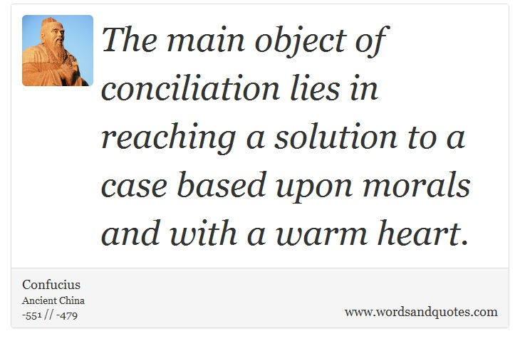 On Agreement The Main Object Of Conciliation Lies In Reachin