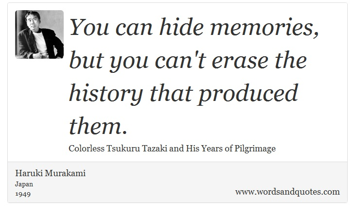 you cant hide from memories essay